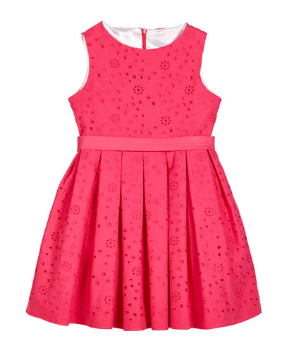Eyelet Embroidered Sleeveless Dress  Size 2-6  and Matching Items