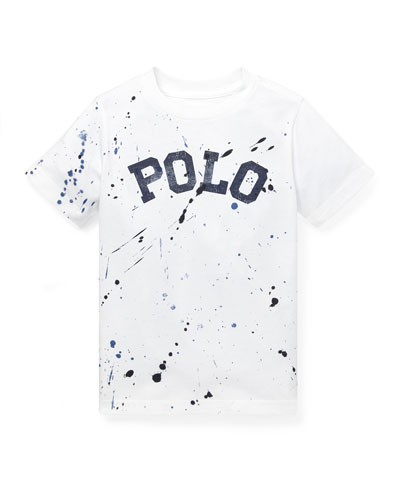Paint Splatter Logo Tee  Size 5-7  and Matching Items