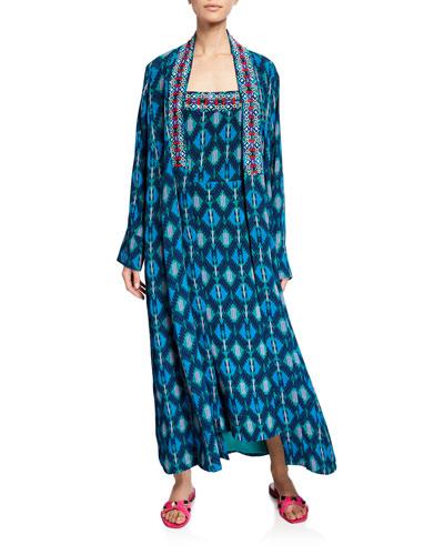 Iznik Ikat Kimono Coat and Matching Items
