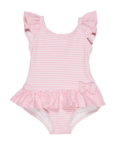 Stripes & Dots Ruffle-Trim One-Piece Swimsuit  Size 6-24 Months  and Matching Items