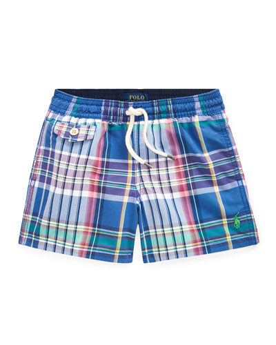 Plaid Swim Trunks  Size 2-4  and Matching Items