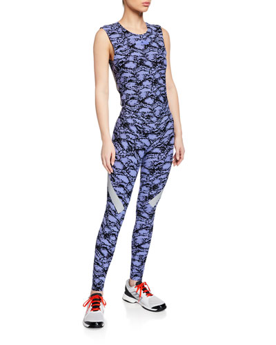 8baf6c75c4 Alphaskin Scoop-Neck Printed Active Tank and Matching Items Quick Look.  adidas by Stella McCartney