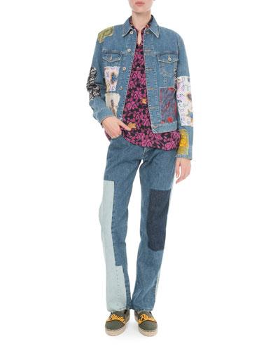 x Paula's Ibiza Patchwork Denim Jacket and Matching Items