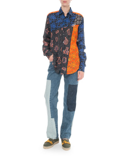 x Paula's Ibiza Patchwork Button-Front Shirt and Matching Items