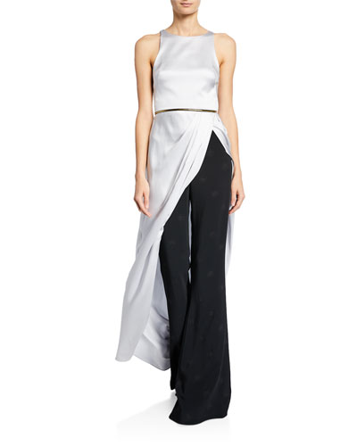 Charmeuse Sleeveless Long Statement Top and Matching Items