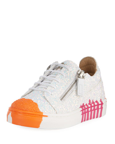 Paint Splashed Glitter Low-Top Sneakers  Toddler and Matching Items