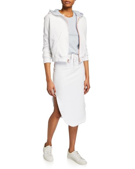 Cotton Fleece Zip-Front Hoodie