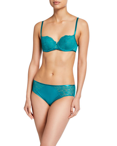 Pyramide Unlined Lace Demi Bra and Matching Items