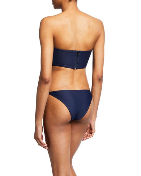 Julie Ribbed Bandeau Bikini Top