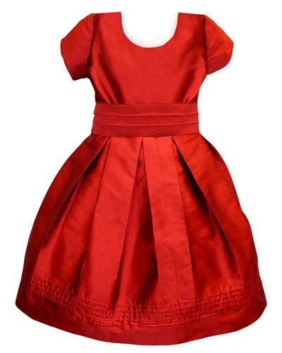Pintucked Taffeta Dress  Size 2-3  and Matching Items