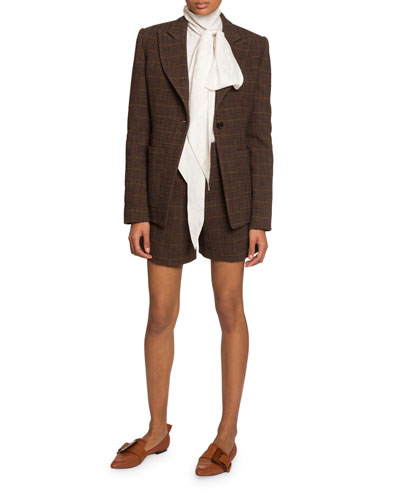 Checked Wool Blazer and Matching Items