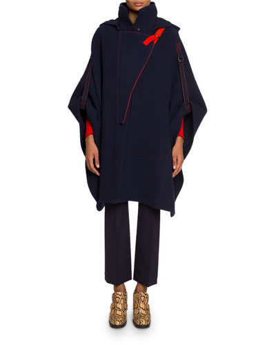 Short-Sleeve High-Neck Cape  and Matching Items