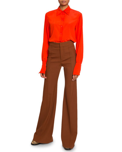 Crepe de Chine Cowl Neck Top and Matching Items