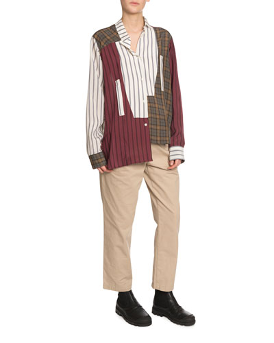 Asymmetric Patchwork Shirt and Matching Items
