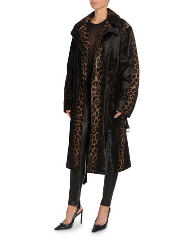 Handpainted Degrade Leopard Print Coat and Matching Items