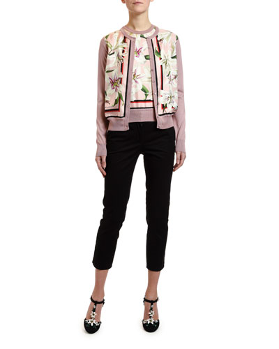 b12b59ab42 Long-Sleeve Lily Print Cardigan and Matching Items Quick Look. Dolce &  Gabbana