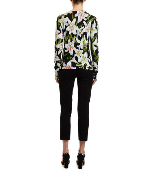 Lily Floral-Print Pullover Sweater