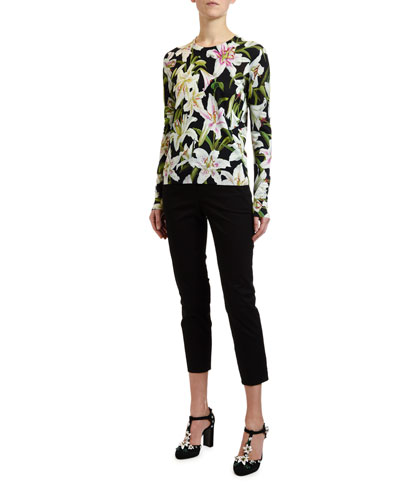 d559a76d Lily Floral-Print Pullover Sweater and Matching Items Quick Look. Dolce &  Gabbana