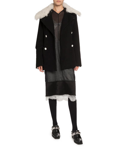 Shearling-Collar Oversize Coat and Matching Items