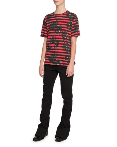 Short-Sleeve Splattered-Floral Print T-Shirt  Red and Matching Items