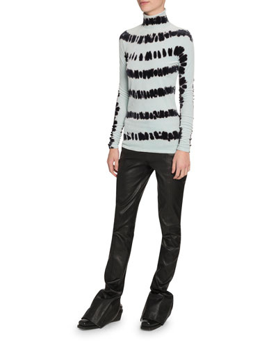 Velvet Tie-Dye Long-Sleeve Top and Matching Items