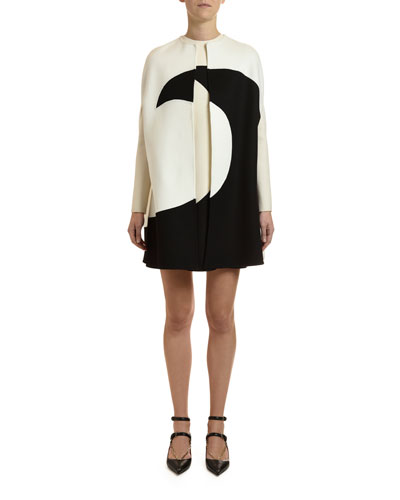 Draped Moon-Print Cape and Matching Items