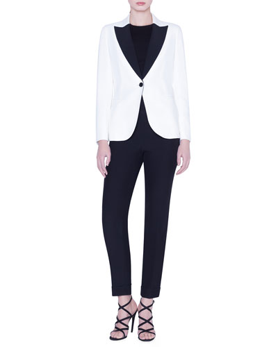 Tuxedo-Lapel Blazer and Matching Items