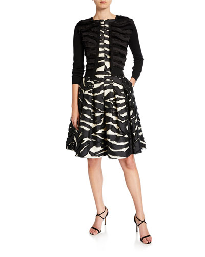 Zebra Print Day Dress