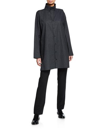 Checkered Poplin Slim Shirt and Matching Items