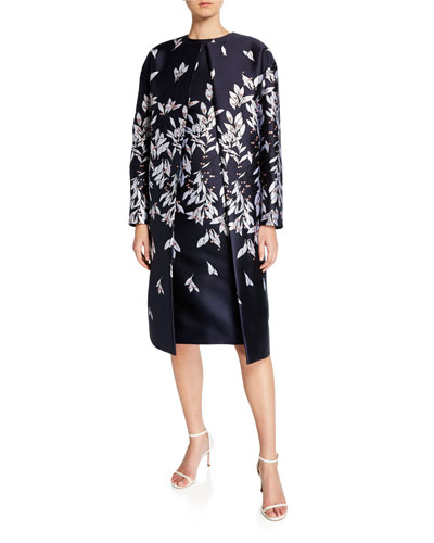 Floral Mikado Overcoat and Matching Items