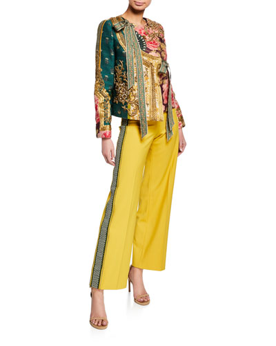 Golden-Embroidered Jacket and Matching Items