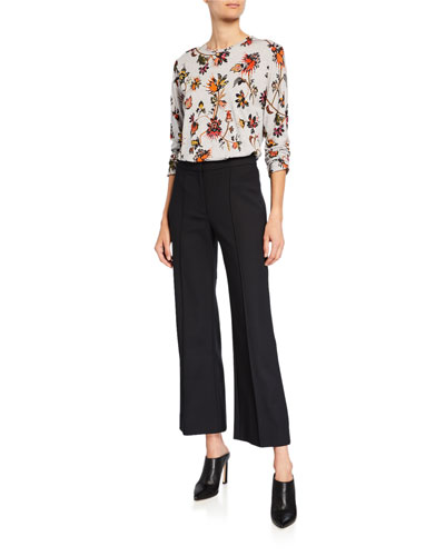 ef5f383715f42 Long-Sleeve Indian Floral Print T-Shirt and Matching Items Quick Look  Promotion. Derek Lam