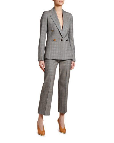 Golden-Check Blazer and Matching Items
