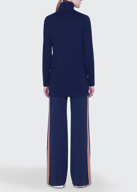 Rainbow-Taped Wool Sweater