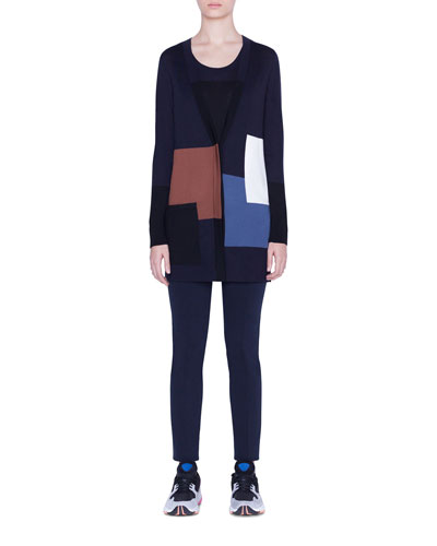 Sleeveless Contrast-Square Wool Sweater and Matching Items