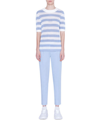 Striped Mesh-Inset Sweater and Matching Items