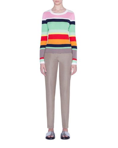 Striped-Wool Boxy Sweater and Matching Items