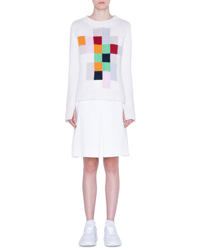Cashmere Pixel-Intarsia Sweater and Matching Items