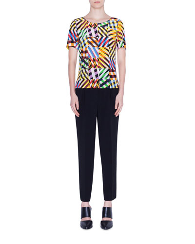 1f86f13704 Patchwork Silk Short-Sleeve Shirt and Matching Items Quick Look Promotion. Akris  punto