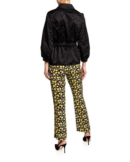 Monochromatic Paisley-Jacquard Evening Jacket