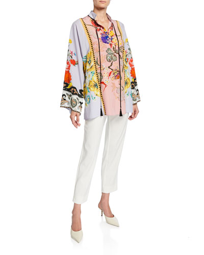 Place Rose Floral Tie-Neck Tunic and Matching Items