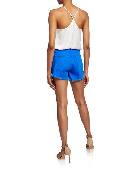 Mariela Racerback Silk Charmeuse Bodysuit