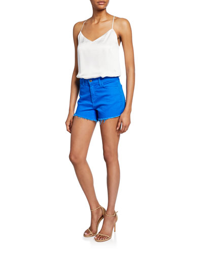 Ryland High-Rise Denim Cutoff Shorts and Matching Items