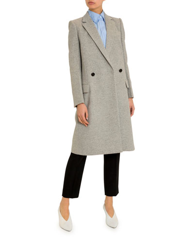 Long Brushed Wool-Cashmere Overcoat and Matching Items