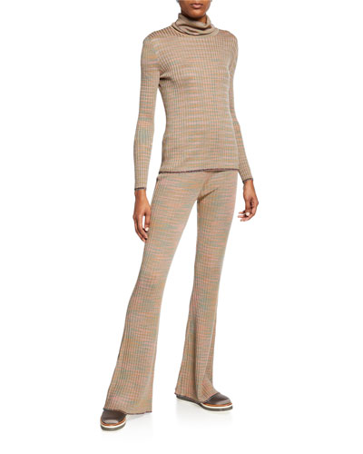 Space-Dye Long-Sleeve Turtleneck Sweater and Matching Items