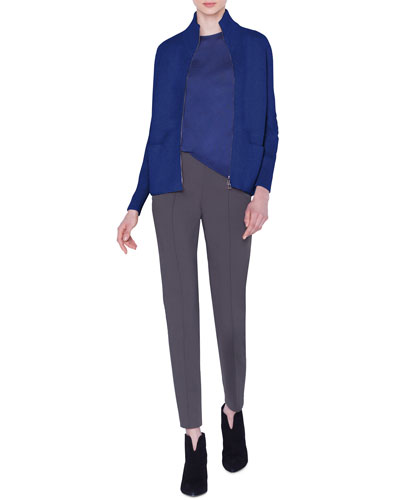 Cashmere Zip-Front Cardigan and Matching Items