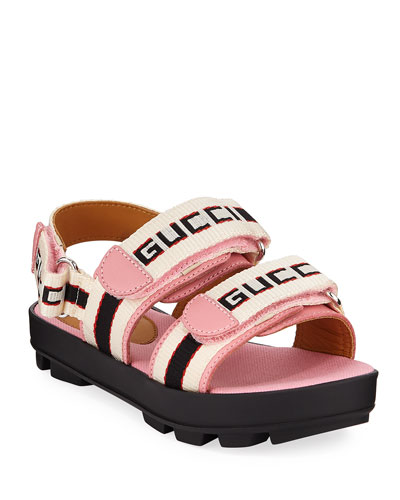 Web Logo Grip-Strap Sandals  Kids  and Matching Items
