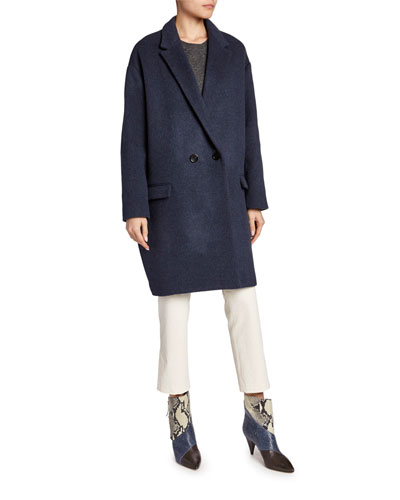 Wool-Cashmere Double-Collar Coat and Matching Items