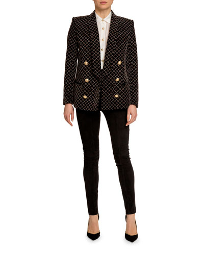 Glitter Grid Shawl Blazer and Matching Items
