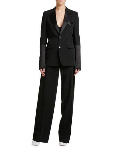 Elastic-Waist Tux Jacket and Matching Items